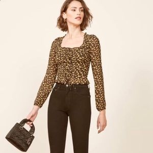 Reformation Italia top blouse NWT 2 $148